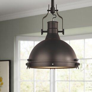 Best Reviews Wamblee 1-Light Dome Pendant By Laurel Foundry Modern Farmhouse