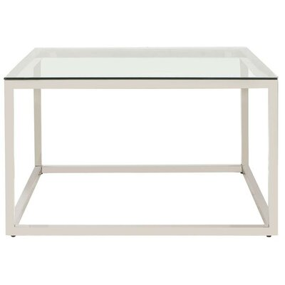 Bonanno Stainless Steel Coffee Table Top Color: Clear by Brayden Studio
