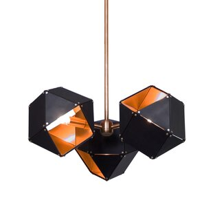 Brayden Studio Rohnert Park 3-Light Sputnik Chandelier