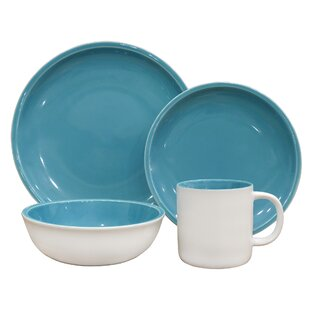 Coastal 16 Piece Dinnerware Set Service for 4  sc 1 st  Wayfair & Coastal Dinnerware Sets Youu0027ll Love | Wayfair