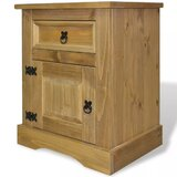 Dale 1 - Drawer Solid Wood Nightstand in Brown by Millwood Pines