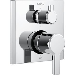 Delta Pivotal Monitor 14 Series Double Handle Valve Trim with 6-Setting Diverter