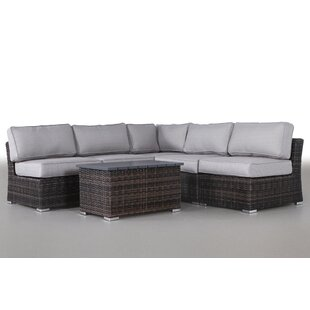 Huddleson 6 Piece Sectional Set with Cushions by Rosecliff Heights