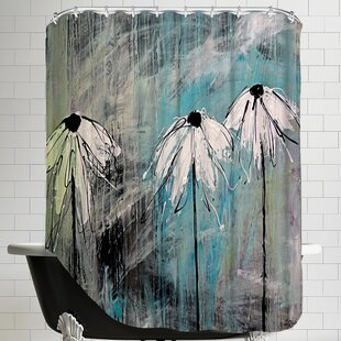Three Fleurs Blanches Single Shower Curtain