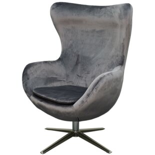 Brayden Studio Leday Swivel Wingback Chair