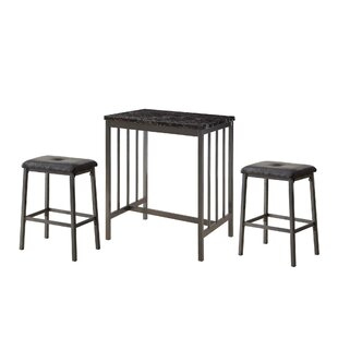 Hytop 3 Piece Counter Height Dining Set by Winston Porter