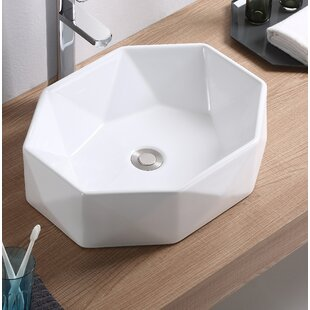 Top Reviews Vitreous China Specialty Vessel Bathroom Sink ByFine Fixtures