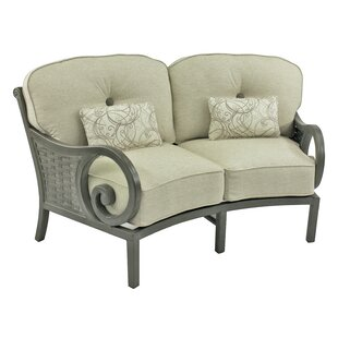 Riviera Crescent Loveseat with Cushions by Leona