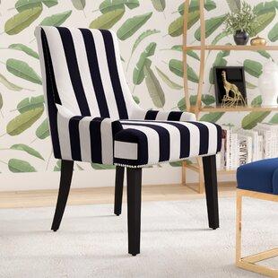 Aicha Stripe Parsons Chair By Willa Arlo Interiors
