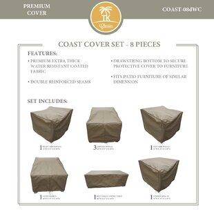 TK Classics Coast 8 Piece Protective Patio Sofa Set Cover