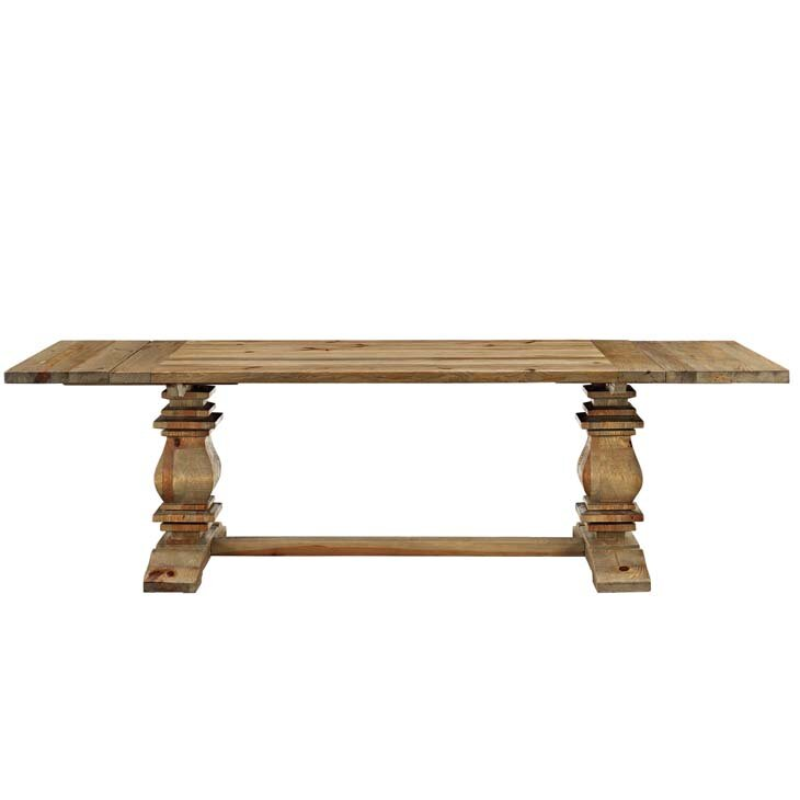 Camden Rise Wood Extendable Dining Table #rustictable #farmtable