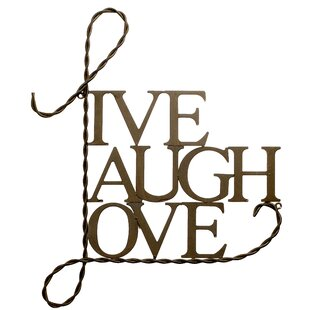Metal Live Laugh Love Wall Décor