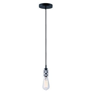 Williston Forge Hafley 1-Light Bulb Pendant