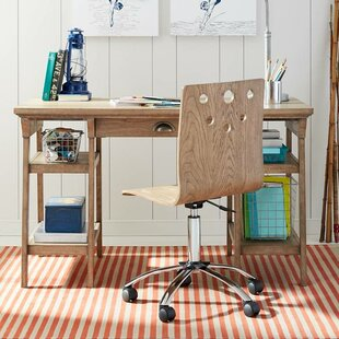 Driftwood Park Solid Wood Writing Desk and Chair Set