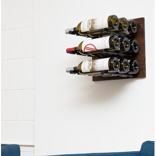 6 Bottle Wood Wall Mounted Wine Rack