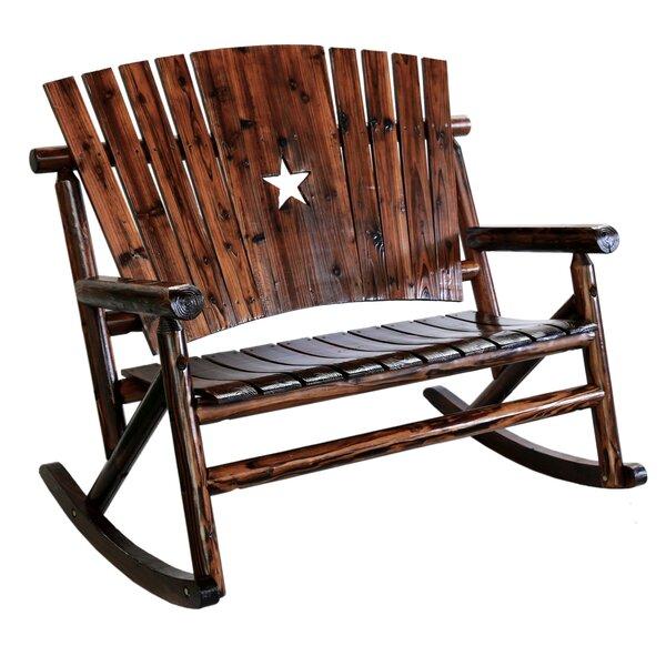 Superb LeighCountry Char Log Star Double Rocking Chair II U0026 Reviews | Wayfair
