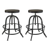 Pavel Adjustable Height Swivel Bar Stool (Set of 2) by Millwood Pines