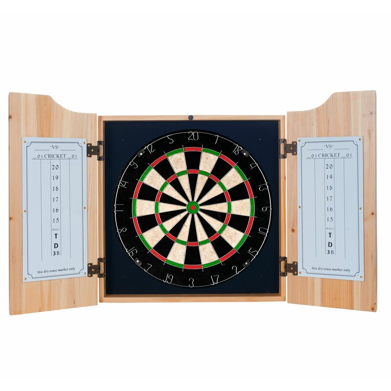 Trademark Global Guinness Toucan Dartboard And Cabinet Set