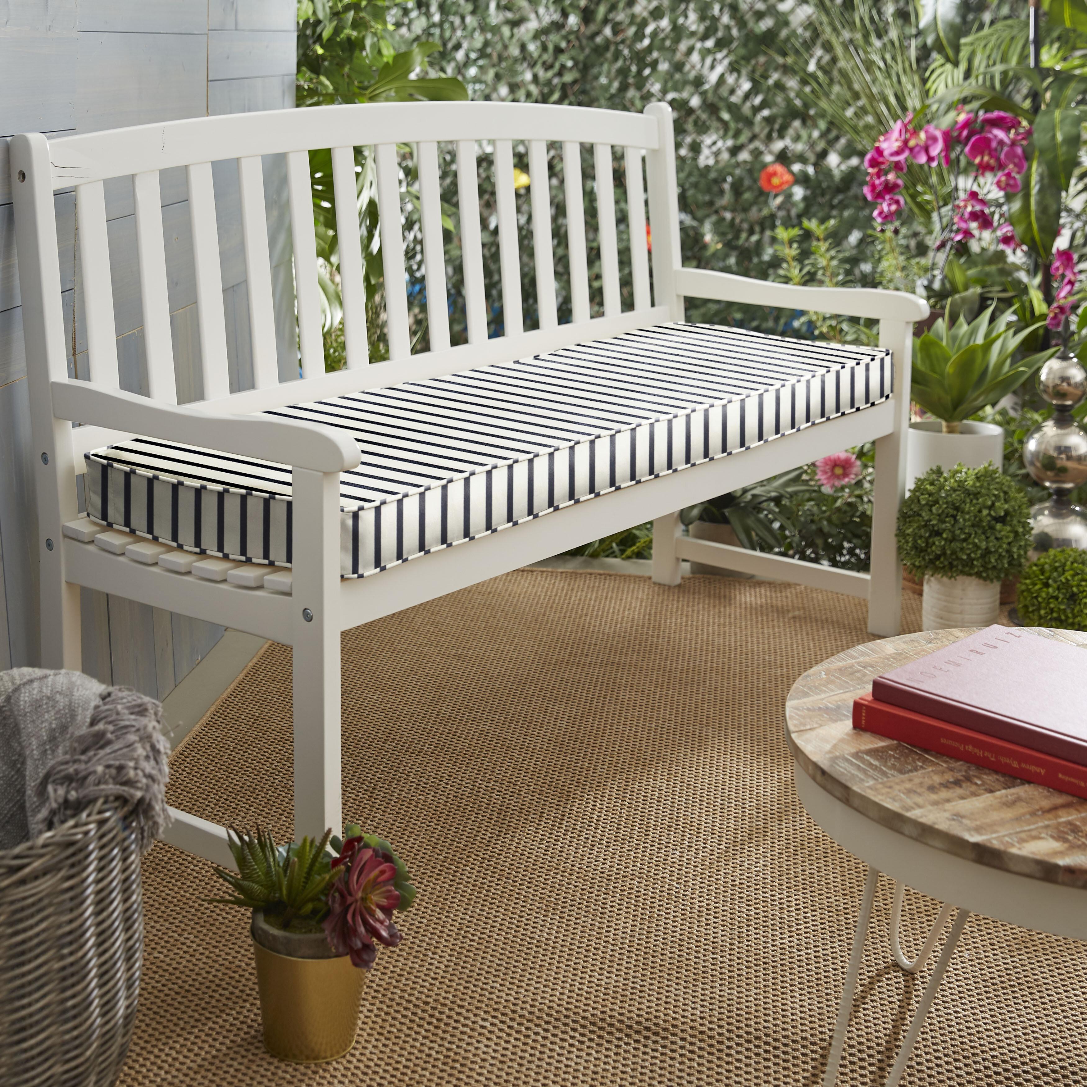 Whitten Stripe Indoor Outdoor Sunbrella Bench Cushion Reviews Joss Main