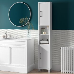 34 X 194cm Free Standing Tall Bathroom Cabinet By Mercury Row