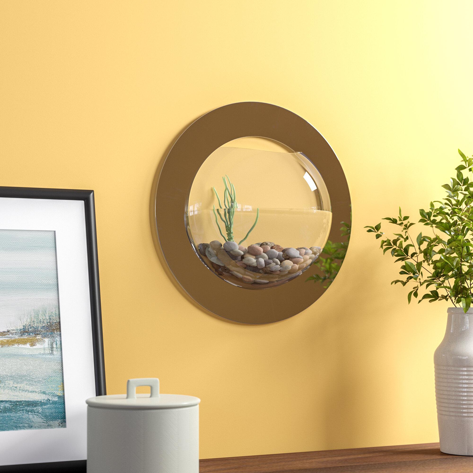 Archie Oscar Beagle 1 Gallon Reflection Fish Bubble Deluxe Mirrored Wall Mounted Aquarium Tank Reviews Wayfair