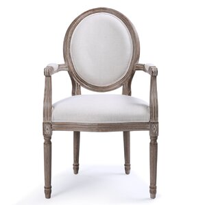 Agda Classic Elegant Upholstered Dining Chair by One Allium Way