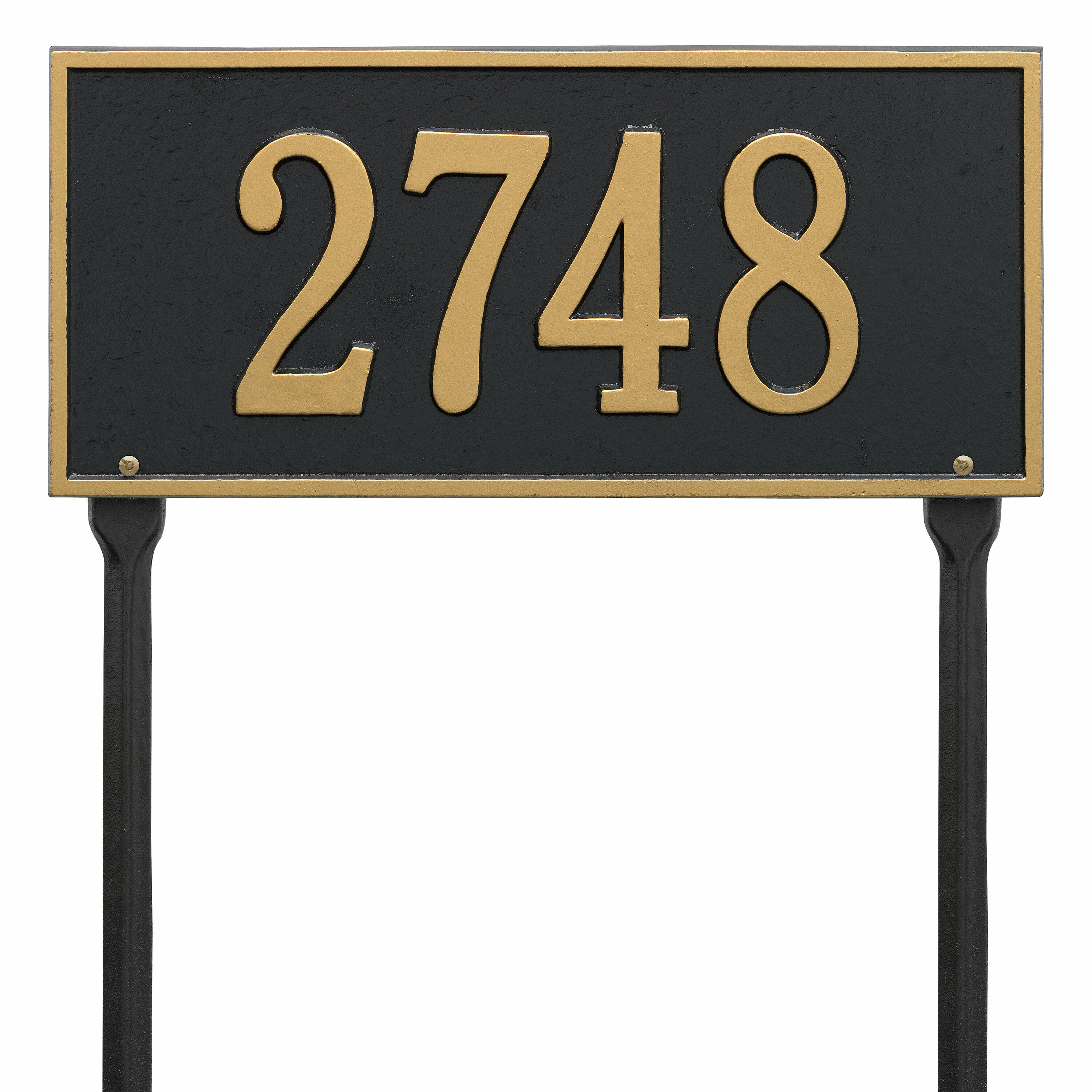 Whitehall Products Hartford 1 Line Lawn Address Sign Reviews Wayfair