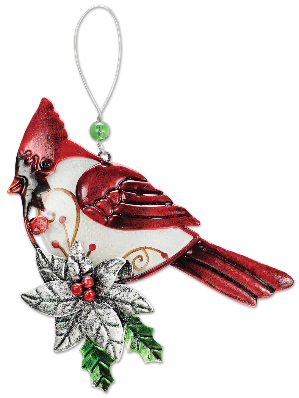 Sunsetvistadesignsco 2 Piece Cardinal Hanging Figurine Ornament Set Wayfair