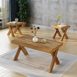 Bay Isle Home 3 Piece Coffee Table Set