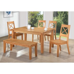 Perth Dining Set With 4 Chairs And One Bench By Gannon's Furniture