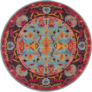 Charleena Blue/Orange Area Rug by Mistana