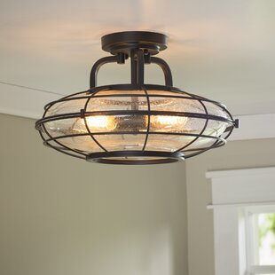 Roberts 3-Light Semi-Flush Mount by Trent Austin Design