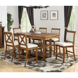 Marine Park 7-Piece Counter Height Dining Set Gracie Oaks