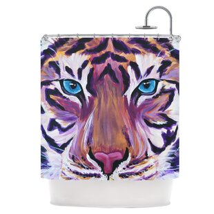 Purple Tiger Single Shower Curtain