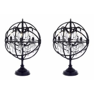 Ewan Orb Crystal Iron 25 Table Lamp (Set of 2)