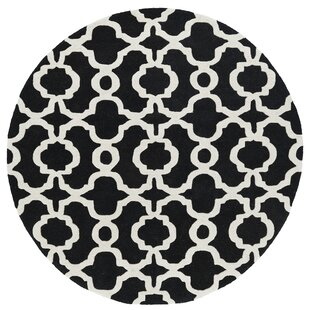 Find for Vanauken Hand-Tufted Black / Ivory Area Rug By Wrought Studio
