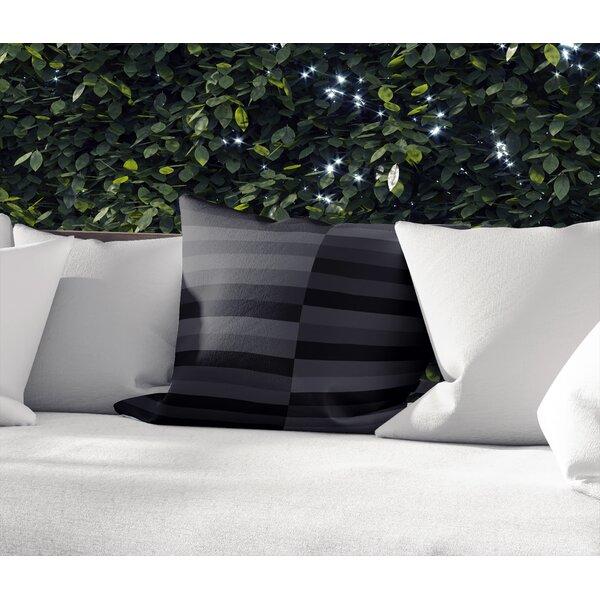 Ebern Designs Monroeville Cotton Indoor Outdoor Striped Pillow Wayfair