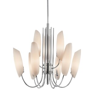 Orren Ellis Gilkey 9-Light Shaded Chandel..