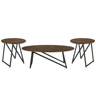 Porath 3 Piece Coffee Table Set