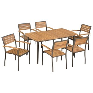 Fortunato 6 Seater Dining Set By Sol 72 Outdoor