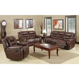 Faulks Reclining 3 Piece Living Room Set ByWinston Porter