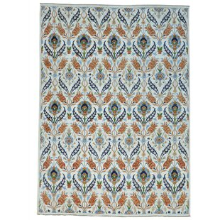 Compare & Buy One-of-a-Kind Schrader Peshawar Hand-Knotted Brown/White Area Rug By Bungalow Rose