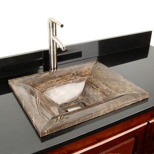 Look for Natural Stone Sinks Stone Rectangular Vessel Bathroom Sink By D'Vontz