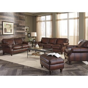 Trecartin Leather Configurable Living Room Set