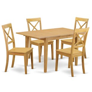 Phoenixville 5 Piece Solid Wood Dining Set by Three Posts