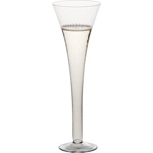Optic Champagne Flute Glass (Set of 6)