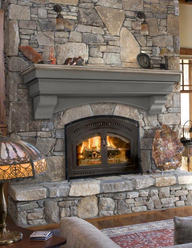 how to build a fireplace mantel shelf over brick
