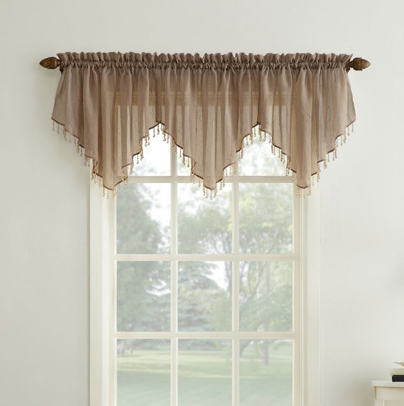No 918 Crushed Sheer Voile 51 Window Valance Reviews Wayfair
