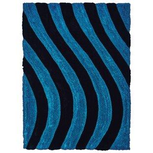 Compare & Buy Fitts Aqua Blue/Jet Black Area Rug ByWrought Studio