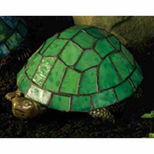 Turtle Tiffany Glass Accent Table Lamp with Green Stained Glass Shade by Meyda Tiffany